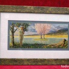 Arte: ADAN Y EVA LUDWING VON HOFMANN DEUSCHE MALEREI 1909 CUADRO. Lote 204654286