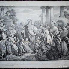 Arte: JÉSUS BÉNIT LES ENFANTS - JESÚS BENDICE LOS NIÑOS - JESUS BLESS THE CHILDRENS - MAGGIOLO. Lote 204682442