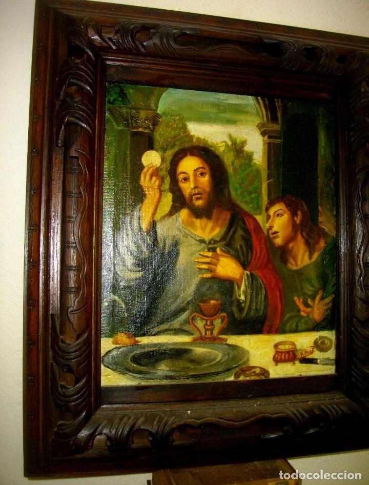 SEGUIDOR DE JUAN VICENTE MASIP - 1562 -FRACMENTO OBRA (( OLEO SOBRE LIENZO ) 60X 49 CTMS (Arte - Arte Religioso - Pintura Religiosa - Oleo)