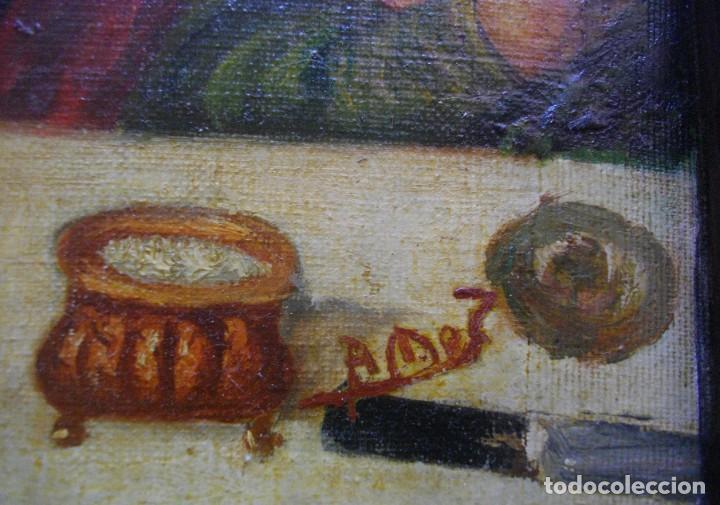 Arte: seguidor de JUAN VICENTE MASIP - 1562 -FRACMENTO OBRA (( OLEO SOBRE LIENZO ) 60X 49 CTMS - Foto 3 - 204998998