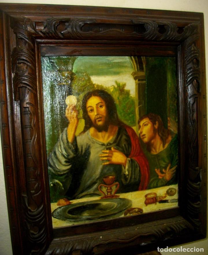 Arte: seguidor de JUAN VICENTE MASIP - 1562 -FRACMENTO OBRA (( OLEO SOBRE LIENZO ) 60X 49 CTMS - Foto 4 - 204998998