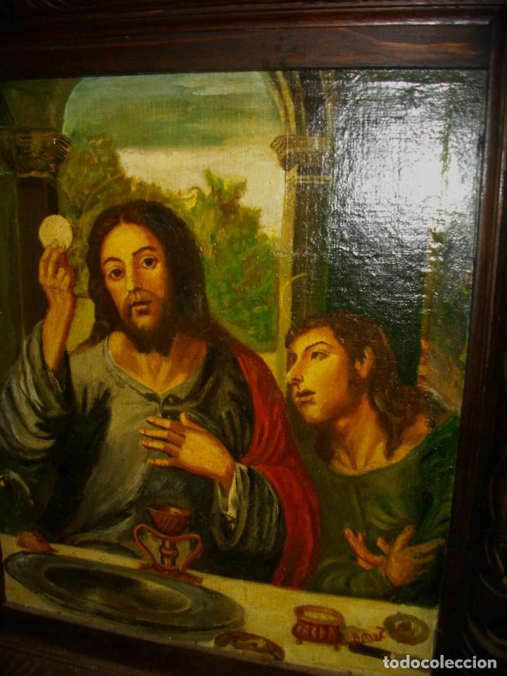 Arte: seguidor de JUAN VICENTE MASIP - 1562 -FRACMENTO OBRA (( OLEO SOBRE LIENZO ) 60X 49 CTMS - Foto 5 - 204998998