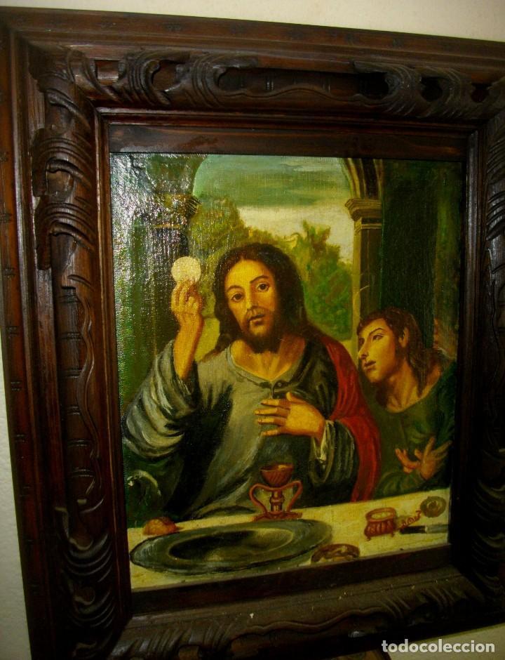 Arte: seguidor de JUAN VICENTE MASIP - 1562 -FRACMENTO OBRA (( OLEO SOBRE LIENZO ) 60X 49 CTMS - Foto 6 - 204998998