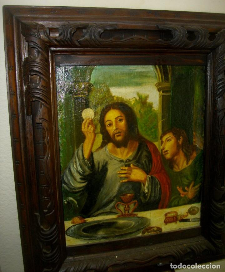 Arte: seguidor de JUAN VICENTE MASIP - 1562 -FRACMENTO OBRA (( OLEO SOBRE LIENZO ) 60X 49 CTMS - Foto 7 - 204998998