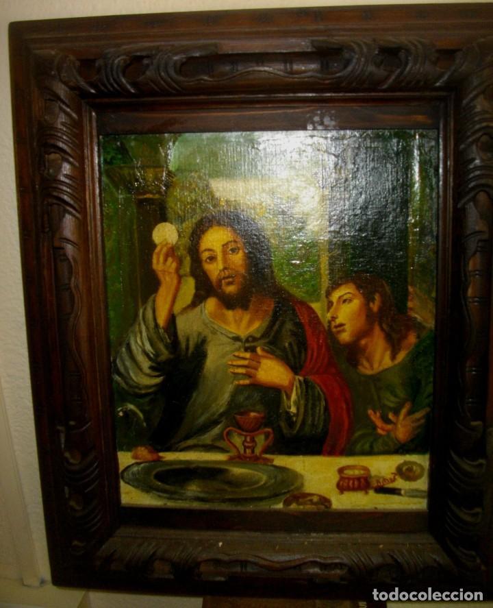 Arte: seguidor de JUAN VICENTE MASIP - 1562 -FRACMENTO OBRA (( OLEO SOBRE LIENZO ) 60X 49 CTMS - Foto 8 - 204998998