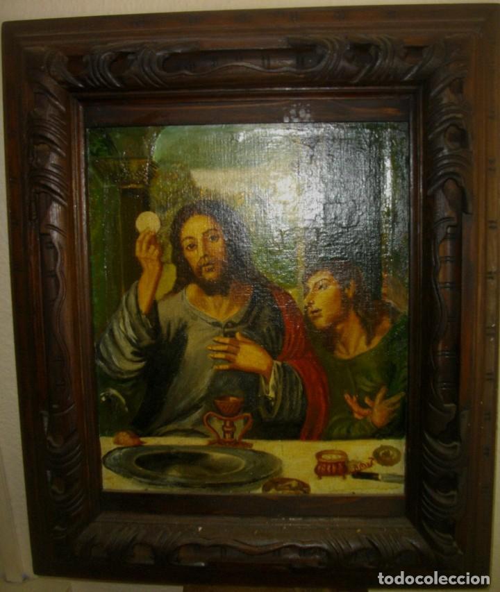 Arte: seguidor de JUAN VICENTE MASIP - 1562 -FRACMENTO OBRA (( OLEO SOBRE LIENZO ) 60X 49 CTMS - Foto 9 - 204998998