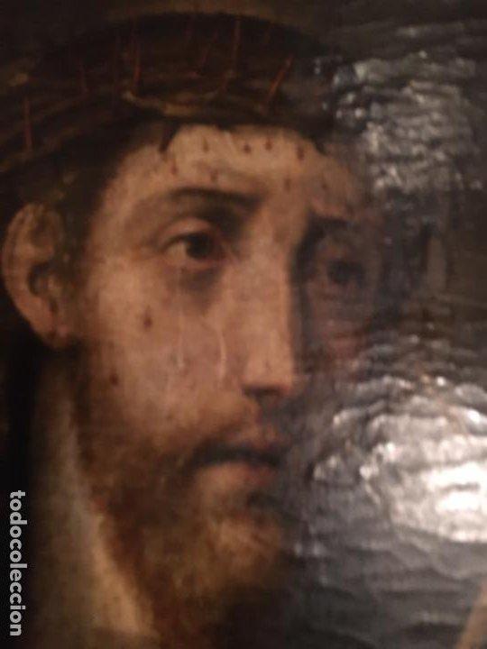 Arte: (M) ANTIGUA PINTURA RELIGIOSA SOBRE TABLA - S. XVI-XVII- original de la época - tabla 61X45 cm. Con - Foto 4 - 205016568