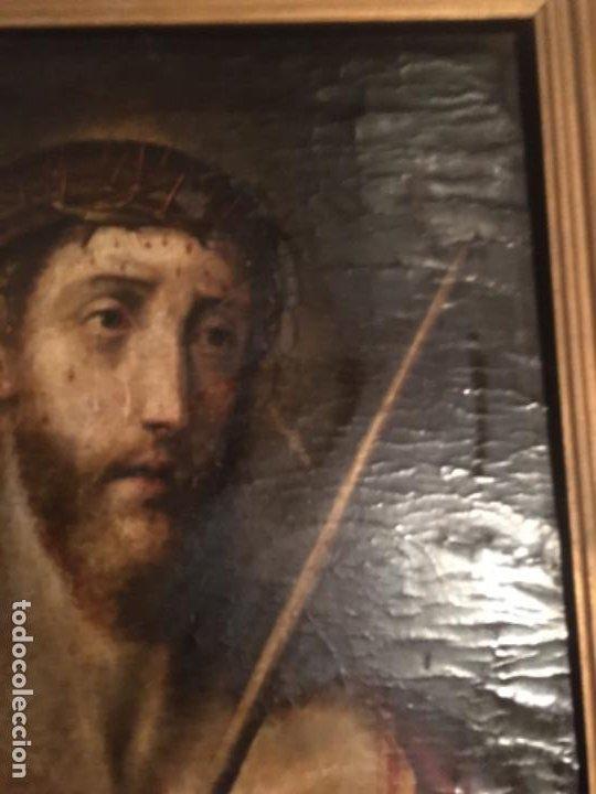 Arte: (M) ANTIGUA PINTURA RELIGIOSA SOBRE TABLA - S. XVI-XVII- original de la época - tabla 61X45 cm. Con - Foto 5 - 205016568