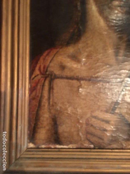 Arte: (M) ANTIGUA PINTURA RELIGIOSA SOBRE TABLA - S. XVI-XVII- original de la época - tabla 61X45 cm. Con - Foto 6 - 205016568