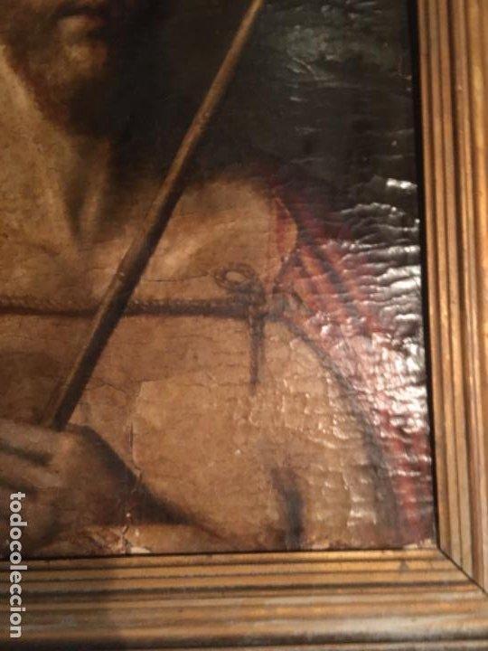 Arte: (M) ANTIGUA PINTURA RELIGIOSA SOBRE TABLA - S. XVI-XVII- original de la época - tabla 61X45 cm. Con - Foto 8 - 205016568