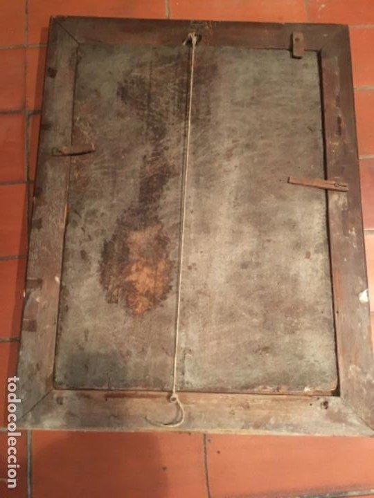 Arte: (M) ANTIGUA PINTURA RELIGIOSA SOBRE TABLA - S. XVI-XVII- original de la época - tabla 61X45 cm. Con - Foto 10 - 205016568