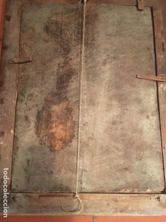 Arte: (M) ANTIGUA PINTURA RELIGIOSA SOBRE TABLA - S. XVI-XVII- original de la época - tabla 61X45 cm. Con - Foto 11 - 205016568