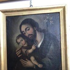 Arte: SAN JOSE CON NIÑO. SIGLO XVIII. LIENZO 42,7X35,3. ESCUELA ESPAÑOLA.. Lote 205333173