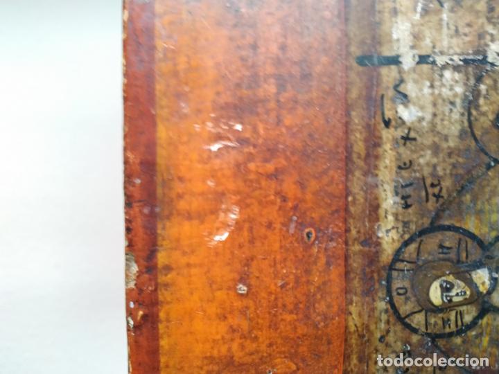 Arte: Icono ruso antiguo sobre tabla con Virgen y Santos, ( San Jorge ) S. XIX - Foto 8 - 205334423