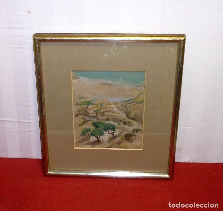 ACUARELA DE LA PINTORA VALENCIANA - ANTONIA MIR CHUST - PINTURA 28X23 Y CON MARCO 46X51. (Arte - Arte Religioso - Pintura Religiosa - Acuarela)