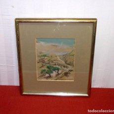 Arte: ACUARELA DE LA PINTORA VALENCIANA - ANTONIA MIR CHUST - PINTURA 28X23 Y CON MARCO 46X51.. Lote 205201172