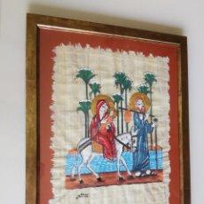 Arte: PRECIOSO PAPIRO ENMARCADO. ORIGINAL DECORACIÓN TEMÁTICA RELIGIOSA. 54X42 CM.. Lote 205407965