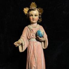 Arte: NIÑO DE LA BOLA DE LOS TALLERES DE OLOT. SELLO DE LAS ARTES RELIGIOSAS.. Lote 205553066