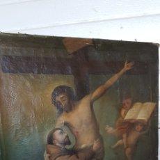Arte: CUADRO ANTIGUO RELIGIOSO SIGLO XVII Ó XVIII. Lote 205563013