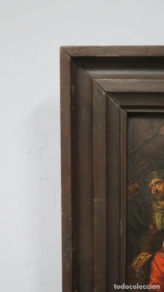 Arte: LA FLAGELACION DE CRISTO. OLEO S/ CHAPA. SIGLO XVIII - Foto 2 - 205725922