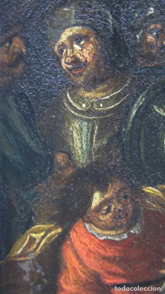 Arte: LA FLAGELACION DE CRISTO. OLEO S/ CHAPA. SIGLO XVIII - Foto 3 - 205725922