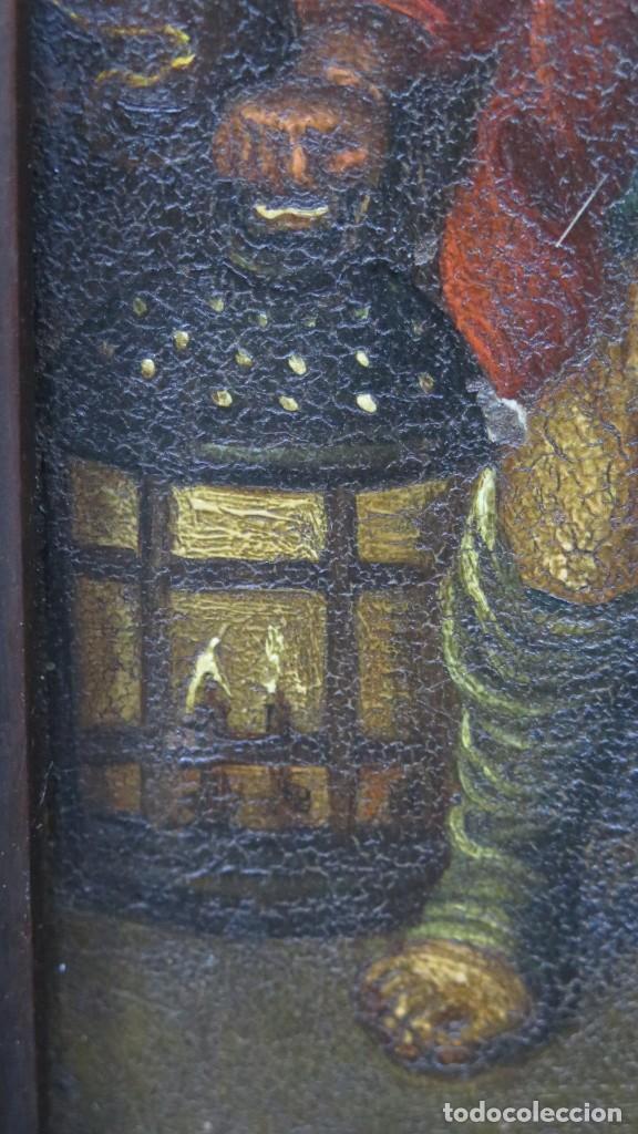 Arte: LA FLAGELACION DE CRISTO. OLEO S/ CHAPA. SIGLO XVIII - Foto 4 - 205725922