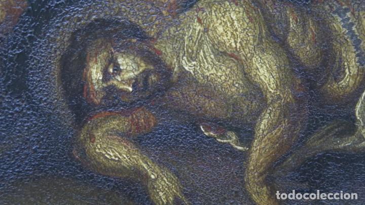 Arte: LA FLAGELACION DE CRISTO. OLEO S/ CHAPA. SIGLO XVIII - Foto 5 - 205725922