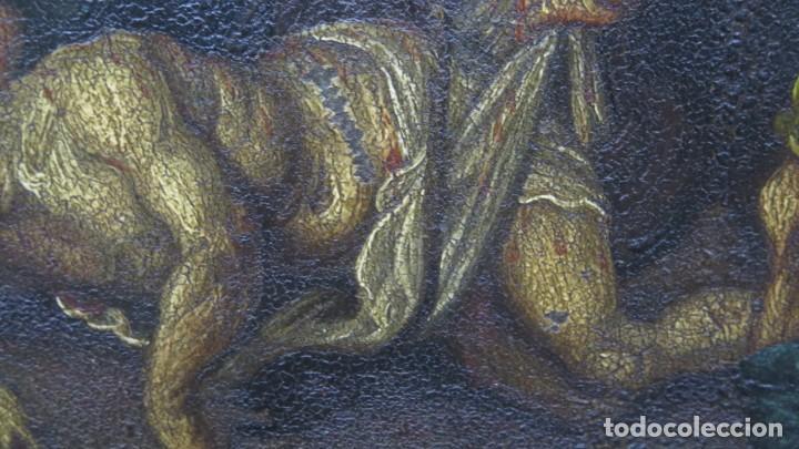 Arte: LA FLAGELACION DE CRISTO. OLEO S/ CHAPA. SIGLO XVIII - Foto 6 - 205725922