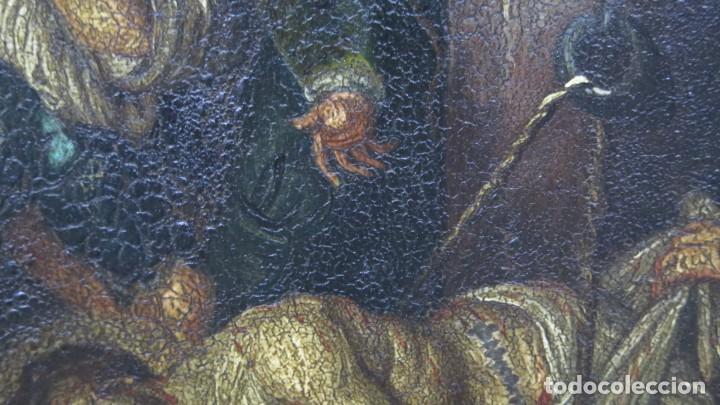Arte: LA FLAGELACION DE CRISTO. OLEO S/ CHAPA. SIGLO XVIII - Foto 7 - 205725922