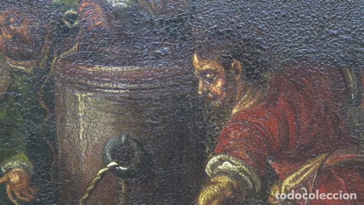 Arte: LA FLAGELACION DE CRISTO. OLEO S/ CHAPA. SIGLO XVIII - Foto 8 - 205725922