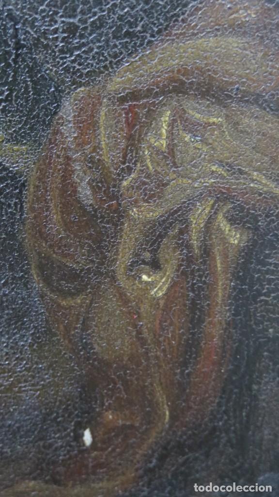 Arte: LA FLAGELACION DE CRISTO. OLEO S/ CHAPA. SIGLO XVIII - Foto 9 - 205725922