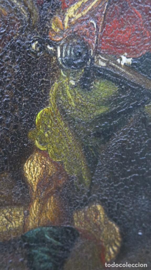 Arte: LA FLAGELACION DE CRISTO. OLEO S/ CHAPA. SIGLO XVIII - Foto 10 - 205725922