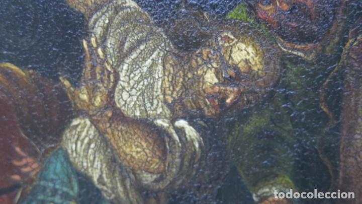 Arte: LA FLAGELACION DE CRISTO. OLEO S/ CHAPA. SIGLO XVIII - Foto 12 - 205725922
