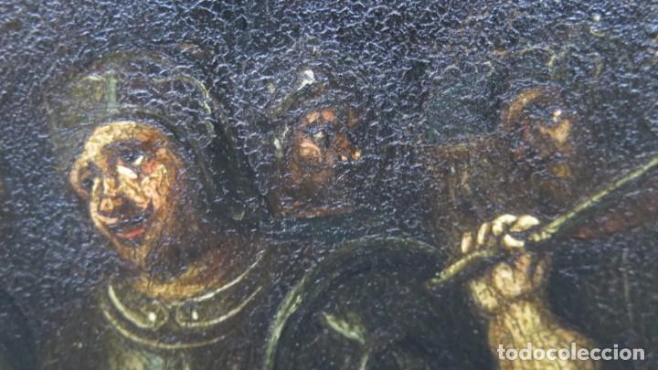 Arte: LA FLAGELACION DE CRISTO. OLEO S/ CHAPA. SIGLO XVIII - Foto 13 - 205725922