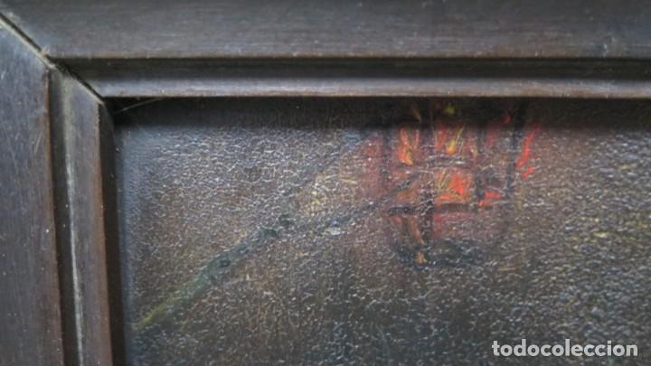 Arte: LA FLAGELACION DE CRISTO. OLEO S/ CHAPA. SIGLO XVIII - Foto 14 - 205725922