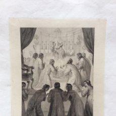 Arte: LA BENEDIZIONE DELLO STOCCO E DEL CAPELLO. GRABADO DE LUIGI BAROCCI.. Lote 205770321