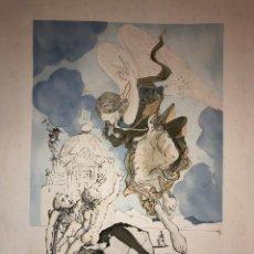Arte: SALVADOR DALI - ACQUAFORTE - ANGELO - FIRMATA E NUMERATA - TIMBRO A SECCO - 1971. Lote 205790302