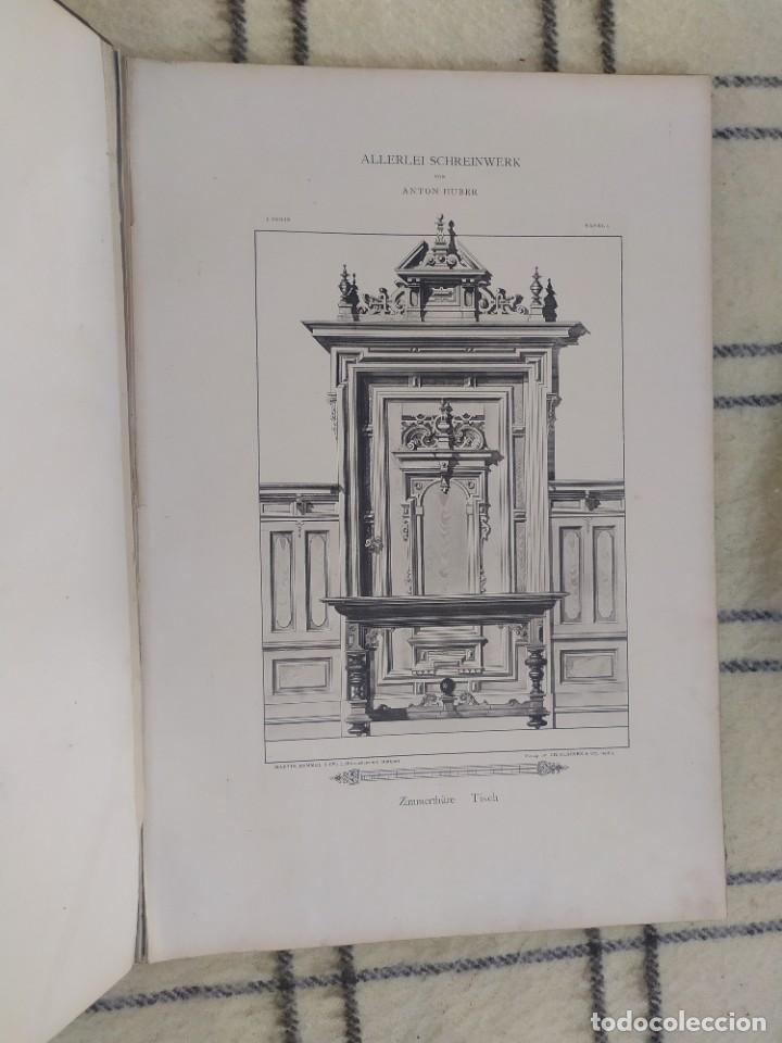 Arte: Finales siglo XIX. Láminas de muebles modernos al estilo renacentista Alemán. - Foto 11 - 205807480