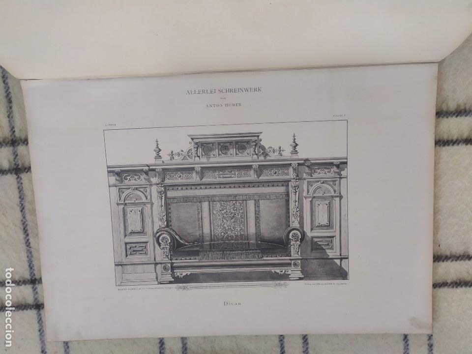 Arte: Finales siglo XIX. Láminas de muebles modernos al estilo renacentista Alemán. - Foto 12 - 205807480