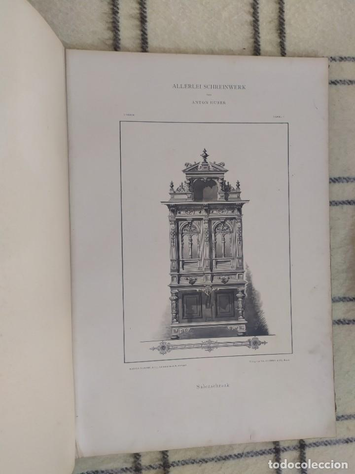 Arte: Finales siglo XIX. Láminas de muebles modernos al estilo renacentista Alemán. - Foto 14 - 205807480