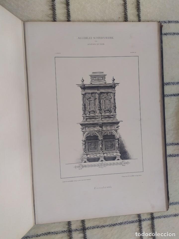 Arte: Finales siglo XIX. Láminas de muebles modernos al estilo renacentista Alemán. - Foto 16 - 205807480