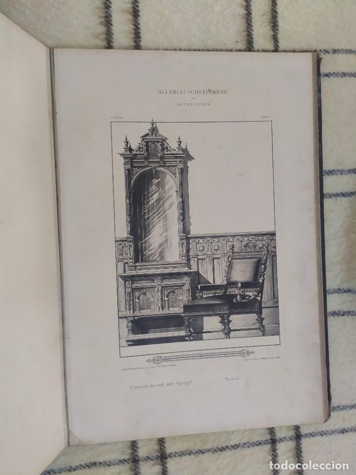 Arte: Finales siglo XIX. Láminas de muebles modernos al estilo renacentista Alemán. - Foto 17 - 205807480