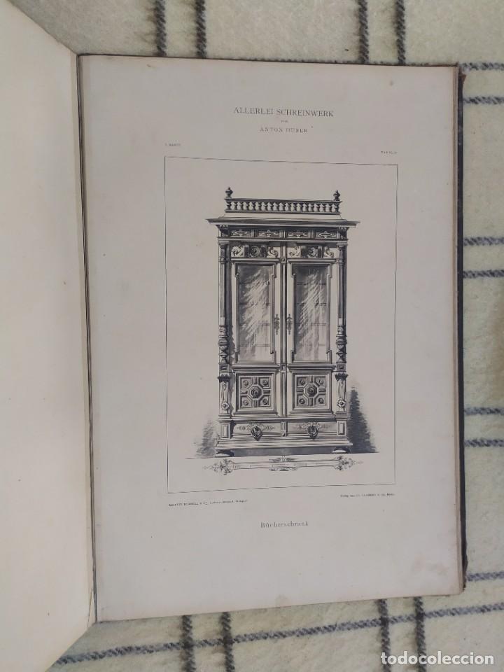 Arte: Finales siglo XIX. Láminas de muebles modernos al estilo renacentista Alemán. - Foto 18 - 205807480