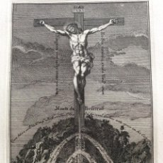 Arte: MONTE DE LA PERFECCIÓN. GRABADO DEL SIGLO XVIII ( 2 ). SALIDA A 0.01€. Lote 205810681