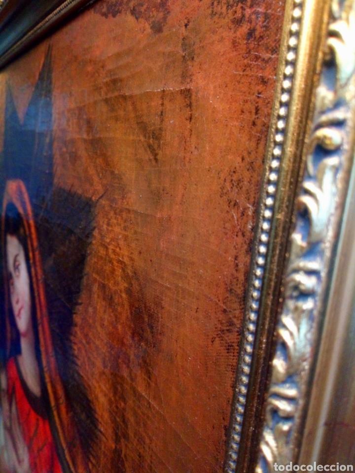 Arte: Precioso óleo sobre lienzo.Virgen de la leche. Escuela Cuzqueña? - Foto 6 - 206151096