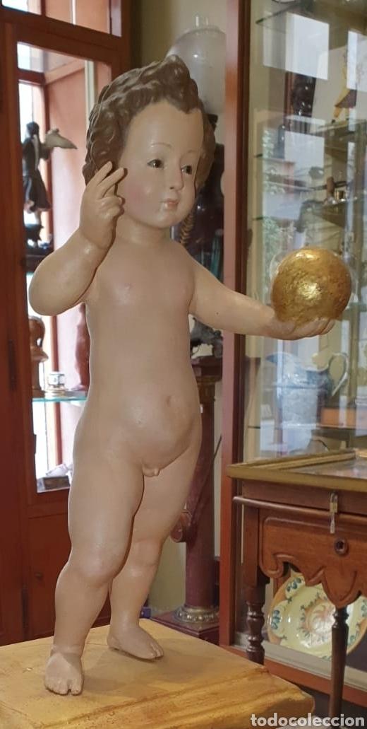 Arte: Escultura Niño de La Bola - Madera Policromada - Restaurado - - Foto 8 - 67550497