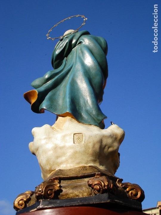 Arte: EL ARTE CRISTIANO INMACULADA CONCEPCIÓN BARROCA PASTA DE MADERA OLOT - Foto 10 - 206193616