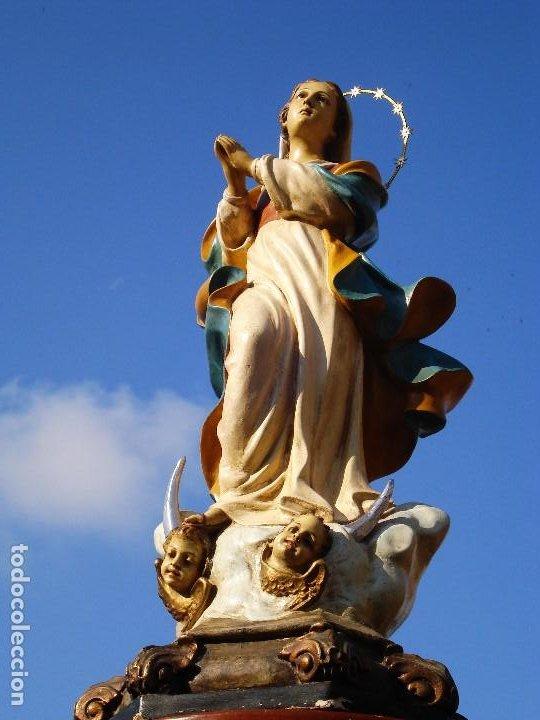 Arte: EL ARTE CRISTIANO INMACULADA CONCEPCIÓN BARROCA PASTA DE MADERA OLOT - Foto 8 - 206193616