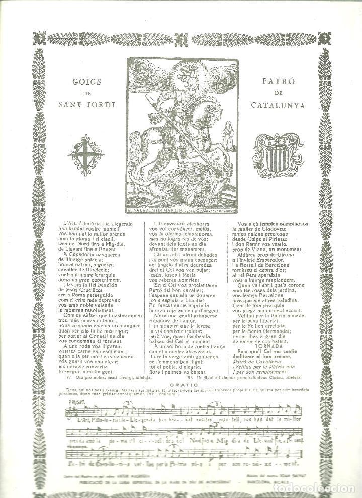 4000.-GOIGS DE SANT JORDI (Arte - Arte Religioso - Grabados)