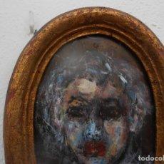 Arte: SERAFIN PINTADO AL GOUACHE SOBRE TABLA DE CAOBA. Lote 206273046